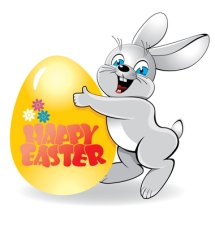 Easter rabbit with Easter egg , vector
