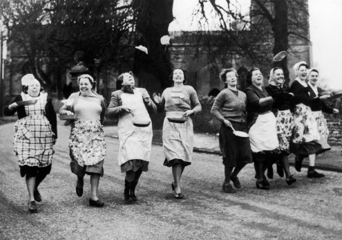 Pancake day race vintage